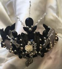 Black And Sliver Mermaid Crown,Gothic Tiara,mermaid Party, Halloween