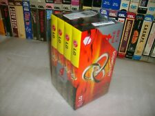 VHS - LG HQ-180 - 4 Brand New 3 Hour Factory Sealed blank tapes - Hard to Find