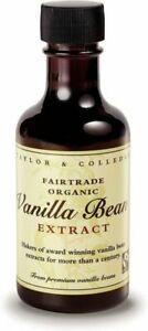 Taylor and Colledge Fairtrade Organic Vanilla Bean Extract - 100ml