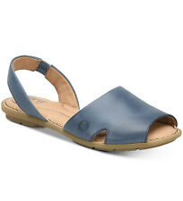 Born Woman's Kibbee Flat Sandals Navy