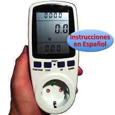Medidor de Consumo Eléctrico Watiometro Contador Amperimetro Voltimetro