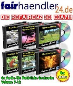6x Audio CDs: NATÜRLICHE GERÄUSCHE Klänge der Natur Vol. 7-12 Natural Sounds NEU
