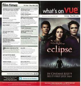 Twilight eclipse VUE Cinema Flyer 2009 Kirsten Stewart  Robert Pattinson