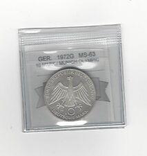 **1972G**Germany, Munich Olympics10 Mark, Coin Mart Graded **MS-63**
