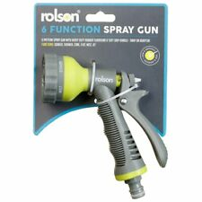 6 Function Rolson Spray Gun Heavy Duty Rubber Surround, & Soft Grip Handle Lime