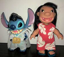 Disney 2002 Rockin Elvis Lilo and Stitch Figurine Set missing ukulele & camera