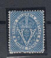 C2715/ CANADA - BRITISH COLUMBIA – SG # 21 MINT MH – CV 150 $