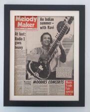RAVI SHANKAR*Indian Summer*1971*RARE*ORIGINAL*COVER*FRAMED* FAST WORLD SHIP