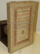BIOGRAFIA - D. Fausto Amadeo: Vita di S. Benedetto Abate - Fabriano 1921