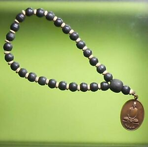 REAL NECKLACE LP DERM OLD THAI BUDDHA AMULET VERY RARE !!!