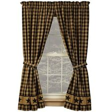 "BLACK COUNTRY STAR 84"" PANELS CURTAINS LINED 1 PAIR"