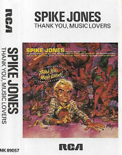 Spike Jones ‎Thank You, Music Lovers! CASSETTE ALBUM JAZZ POP Big Band, Parody