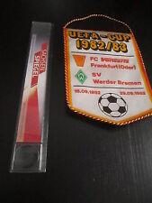 040315 DDR Wimpel Vorwärts Frankfurt - Werder Bremen EC 1982