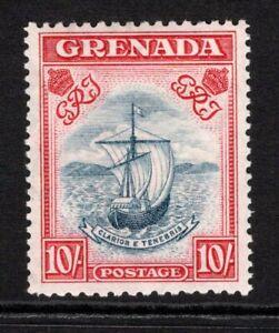 Grenada KGVI  1938-50  10s Steel Blue & Carmine (p12x13) SG163 M/Mint