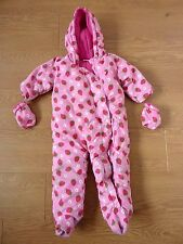Ladybird Baby Winter Jumpsuit Strawberry Full Body Hoodie & Glove 12 - 18 Month