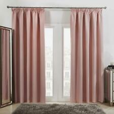 Dreamscene Pencil Pleat Blackout Curtains Set of 2 Thermal Tape Top Heading Pink