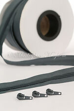 CONTINUOUS CHAIN ZIP / ZIPPING - UPHOLSTERY -NUMBER N3/N5 -1/5/10 METRES OR 100M