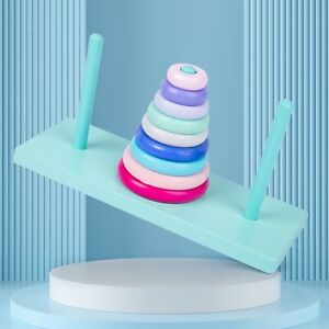 Regenbogen Stapelringe Spielzeug für Kleinkinder Farberkennung Geometrische