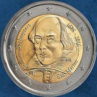 San Marino - 400. Todestag William Shakespeare - 2 Euro 2016 BU