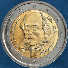 San Marino - 400. Todestag William Shakespeare - 2 Euro 2016 BU