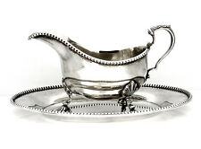 Tiffany & Co English Sterling Adie & Co Hallmarks Large Gravy Boat & Under-dish.