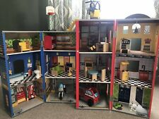 Children's wooden Dolls House Fire & Police house, Everyday hero's