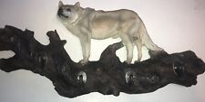 White Wolf Coat Jacket Wall Hanger Home Decor