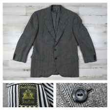 Oxxford Clothes Mens 42R Wool Gray Herringbone Surgeon Jacket Blazer Sport Coat