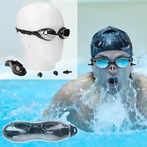 Schwimmbrille Nasenklammer Ohrstöpsel Wassersport Schwimmen Tauchen Wasser Set