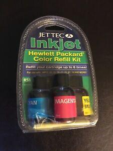 Jet Tec InkJet R 58 Color Refill Kit  Hewlett Packard Refill Up To 6 Times New