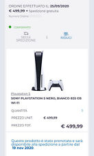 Sony playstation 5 CONSOLE CON LETTORE