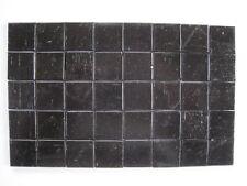 "Loose 3/4"" (2 cms) square Glass Mosaic Tiles - 40 pieces - ""Black"""
