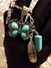 Turquoise Butterfly Keychain or Purse charm or a cute Wedding Favor or Gift!
