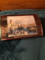 STOCK MEYER CHOCOLATE LIVERPOOL ENGLAND TIN CHEST CONTAINER MADE IN GERMANY