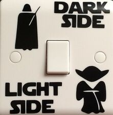 Star Wars light side dark side funny novelty Light Switch Vinyl Decal Sticker