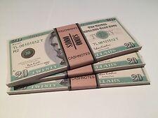 Spielgeld, Poker Dollar, Chips, Jetons, Plaque, Deko ($20-Scheine)