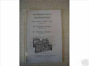 Harrison L5 & L6 Lathe Manual (Worldwide Shipping)