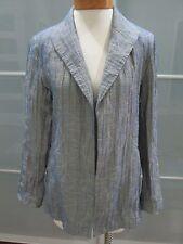 Lafayette 148 New York Open Front Linen Blend Blazer Jacket Size 8