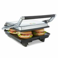 Cafe Electric Large 4x Sandwich Press Maker Grill Toaster Non Stick Flat Plates