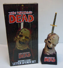 The Walking Dead Michonne's Sword Letter Opener Set Zombie with Sword Horror New