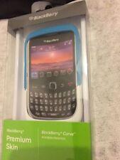 Blackberry Premium De Piel Para Curve/Azul Y Blanco