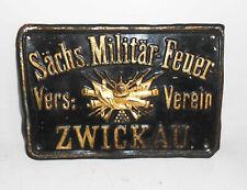 Altes Blechschild Sächsische Militär-Feuer Versicherung Vereins Zwickau vor 1945