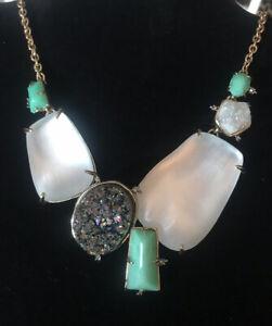NWT Alexis Bittar Large Druzy Medallion Bib Necklace $395.00