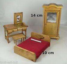 meubles en bois miniature,maison de poupée,vitrine,lit,coiffeuse,chambre *B10
