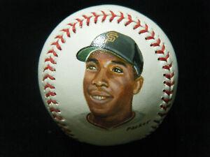 Willie McCovey Gregg Packer COA hand painted Portrait MLB Baseball