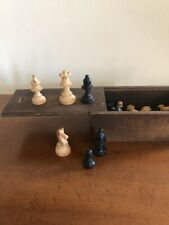 Vintage Staunton Style Chess Set Boxed Complete
