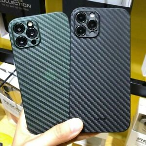 Carbon Fiber Grain Phone Shockproof Soft Case Cover For iPhone 13mini 12 Pro Max