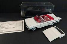 DANBURY MINT Chevrolet Impala Convertible 1960 White 1:24 Mint Condition (39)