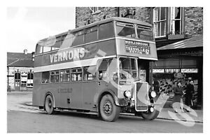 Bus Photograph UNITED AUTOMOBILE SERVICES KHN 386 [BBL 29] Saltburn '54