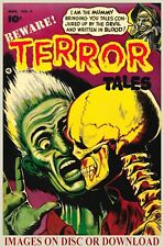 VINTAGE HORROR COMIC COVERS 300dpi Restored Print-Making Images (by Timecamera)